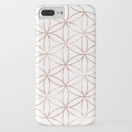 Mandala Rose Gold Flower of Life iPhone Case