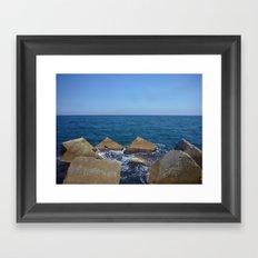 Barcelona - Espigo de la Mar Bella Framed Art Print