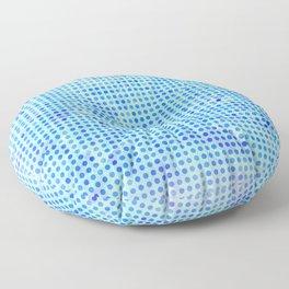 Pale Blue Dots Pattern Floor Pillow