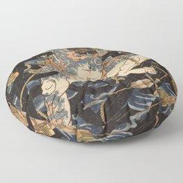 Utagawa Kuniyoshi  - One Hundred And Eight Heroes Floor Pillow