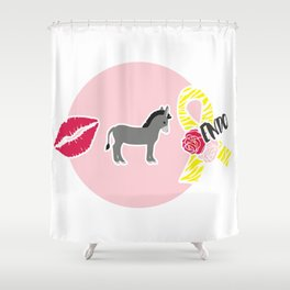 Kiss My Ass Endometriosis - Commissioned Work Shower Curtain