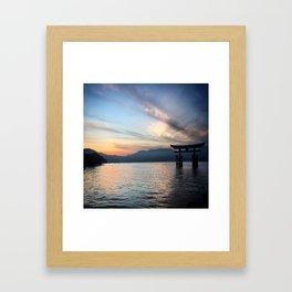 miyajima island views Framed Art Print