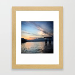 miyajima island views Framed Art Print