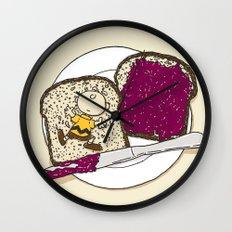 Peanut butter & Jelly Wall Clock