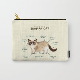 Anatomy of a Grumpy Kitty Carry-All Pouch