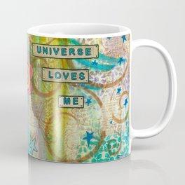 The Universe Loves Me mixed media art Coffee Mug