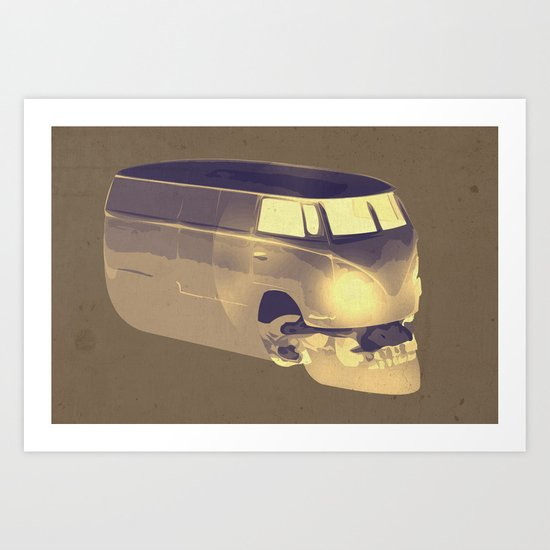 Skull Volkswagen Art Print