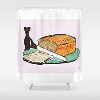 breakfast Shower Curtains featuring Breakfast  by yisuen