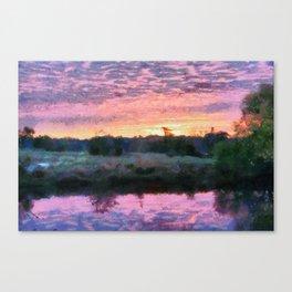 Monet Inspired Sunrise Canvas Print