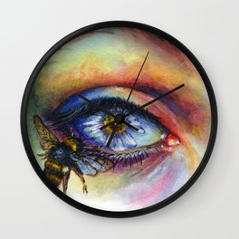 Flower eye Wall Clock