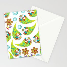 Green Paisley #3 Stationery Cards