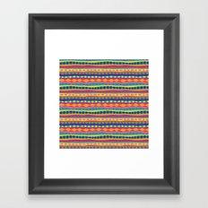 Stripey-Crayon Colors Framed Art Print