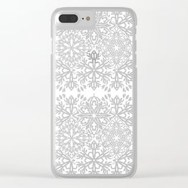 MOROCCAN TILES ROSEGOLD Clear iPhone Case
