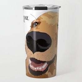 Bitch Please. I'm Fabulous. Golden Retriever Dog. Travel Mug