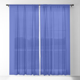 Royal Cobalt Blue Sheer Curtain