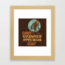 Guthrie Sasquatch Appreciation Club Sticker Art Framed Art Print