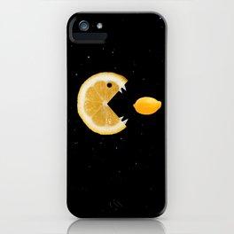 Funny Lemon Eats lemon iPhone Case