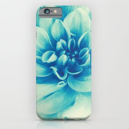 Blue Beauty (Spring Blooming Dahlia) iPhone Case