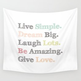 Inspiration Typography Quote Words Pastel  Wall Tapestry