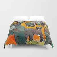 elephants Duvet Covers featuring Elephants by Jonas Ericson