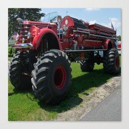 Real Big Fire Truck Canvas Print