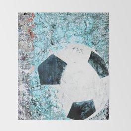 Soccer art Throw Blanket