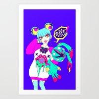 Mackey Sailor Buns  Art Print