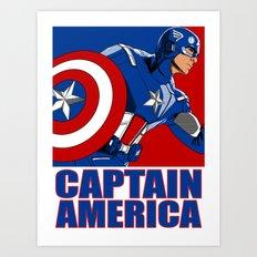 Captain 'merica Art Print