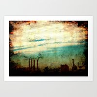 industrial Art Prints featuring Industrial by [ his artwork ]