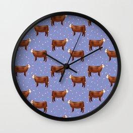 Simmental // Purple// Sprinkles Wall Clock
