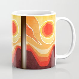 Modern Mid-Century Desert Sunset Coffee Mug