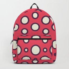 Boho Design Circles In Pink Backpack
