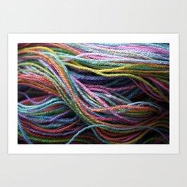 Rainbow Handspun Yarn / Multi-colored Art Print