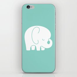 Mod Baby Elephant Teal iPhone Skin