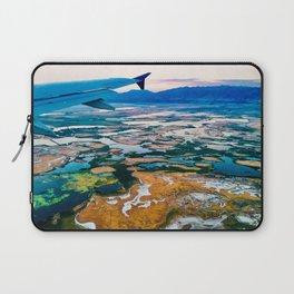 Organic kaleidoscope ~ Breathtaking Mountain Time sunset view from a window seat. Laptop Sleeve