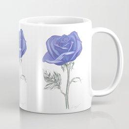 Rose 04 Botanical Flower * Silver Sterling Blue Rose: Love, Honor, Faith, Beauty, Devotion & Wisdom  Coffee Mug