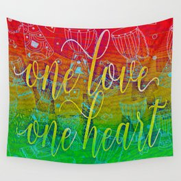 One Love One Heart Wall Tapestry