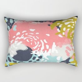 Athena - abstract painting hipster home decor trendy color palette art gifts Rectangular Pillow