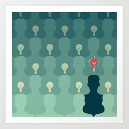 Stand out from the crowd Art Print