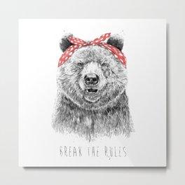 Break the rules Metal Print