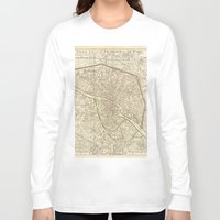 paris Long Sleeve T-shirts featuring PARIS by Le petit Archiviste