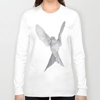 calcifer Long Sleeve T-shirts featuring Hummingbird  by Calcifer