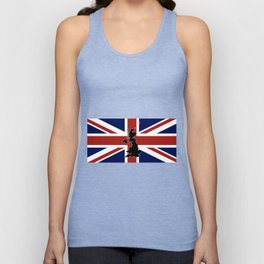 UK Silhouette and Flag Unisex Tank Top