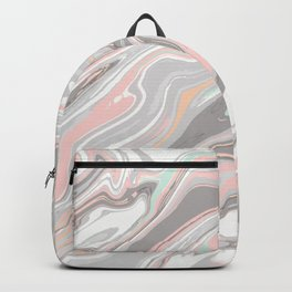 Liquid vibrant abstract marble texture Backpack