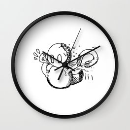 Emergency Responses Protocol doodle Wall Clock