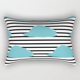 Blue & Black Stripes Digital Design Rectangular Pillow