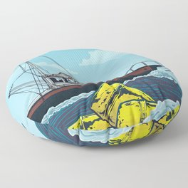 Jaws: Orca Illustration Floor Pillow