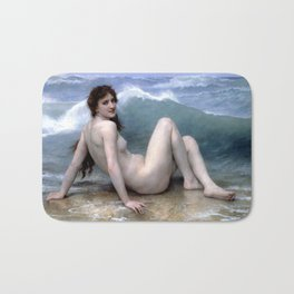 William Adolphe Bouguereau The Wave Bath Mat