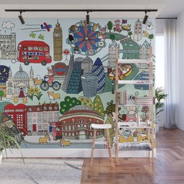 The Queen's London Day Out Wall Mural