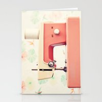 sewing Stationery Cards featuring Sewing Machine by Caroline Mint